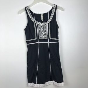 Free People Embroidered Dress Black White Size 4